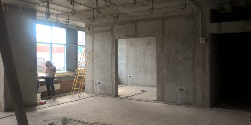 Помещение магазина до ремонта РСК АСКА